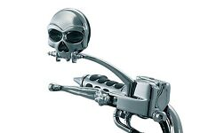 Kuryakyn Chrome Zombie Skull Mirrors 1450 for Harley