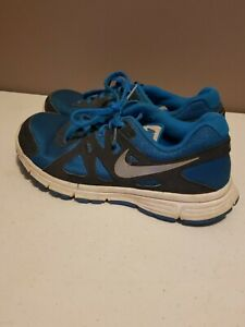 Nike Shoes Revolution 2 Running Sneakers Youth 5.5 Blue/Gray Lace-Up EUC
