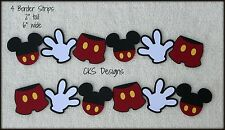 Die Cut Disney BORDER Mickey Mouse Shorts & Hands Scrapbook Paper Piecing CKS