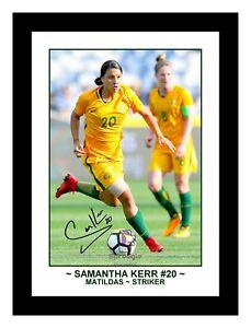 SAMANTHA 'SAM' KERR MATILDAS WOMEN'S SOCCER SIGNED ACTION PHOTO PRINT OR FRAMED.