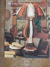 TAURUS FIBERS N FRAMES MACRAME PATTERN BOOK LAMPS CLOCK OWL BILLIARD LIGHT ++