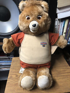 Vintage 1985 Teddy Ruxpin Talking Animated Bear In Original Suit