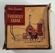 1950's Mobil Oil Carter Hoffman Originals Friendly Farm Ashtray or Coaster Set