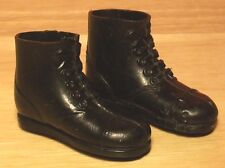 Vintage 1966-1975 GI Joe Black Low Cut Plastic Boots Hasbro #2