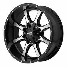 "Moto Metal 20x12 MO970 Wheel Gloss Black Machined 8x6.5 / 8x165.1 -44mm 4.77"""