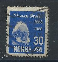 Norvège N°131 Obl (FU) 1928 - Henrik Ibsen