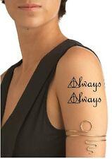 """SHIP FROM NY -   temporary tattoo - Setof 2 Harry Potter """"Always"""" symbols"""