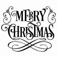 Stamperia Mix Media Thick Stencil – Merry Christmas New KSTDQ15