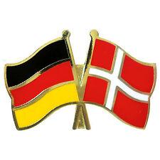Freundschaftspin Deutschland - Dänemark Anstecker Anstecknadel Fahne Doppelpin