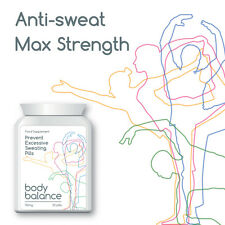 BODY BALANCE PREVENT EXCESSIVE SWEATING PILLS  ANTI-SWEAT TABLET MAX STRENGTH