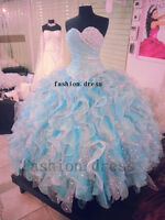STOCK New Quinceanera Formal Prom Party Ball Bridesmaid Wedding Evening Dress Sz