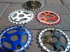 25t BMX BICYCLE SPROCKETS RED,BLUE,BLACK, WHITE- MACHINED & 28T BLACK SPROCKET