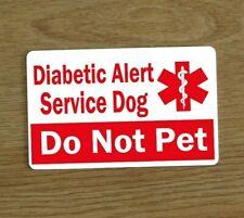 Diabetic Alert Service Dog Card, Assistance Dog Card, Medical Awareness Card