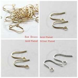 Solid Brass Base Earring Hooks - 14x12mm (3618C)
