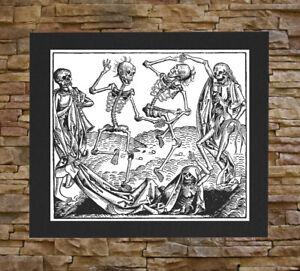 Memento Mori Canvas Print / Back Patch - Death Remember Skeleton Occult Skull