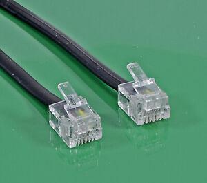 Telefonanschlußkabel  RJ 11 Steckern an beiden Enden, 4-Draht (0,3 bis 20,0 m )