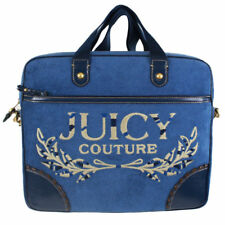 NEW Juicy Couture Terry Crest Laptop Case Bag Blue RARE! ON SALE!!