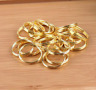 Gold Double Loop Split Open Jump Rings 4-12MM Stainless Steel DIY Jewelry Making