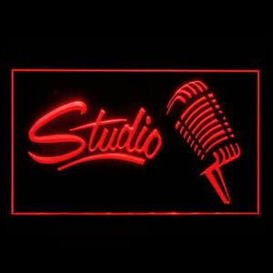 140047 Studio Recording Open On Air Headphone Live Display LED Light Neon Sign