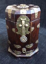 Antique Japanese Wooden Box ~ Brass Hardware