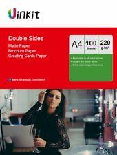 A4 Double Sides Matt Matte Inkjet Photo Photo Paper 220Gsm - 100 Sheets Uinkit