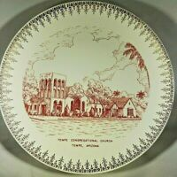 Tempe Congregational Church Tempe AZ Porcelain Plate 1960's
