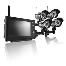 IP CAM Home Security Videoüberwachungssystem 4 Kamera Monitor Funk Überwachung