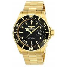 Invicta Men's Pro Diver Black Dial 43mm Yellow Gold Stainless Steel Watch 25717