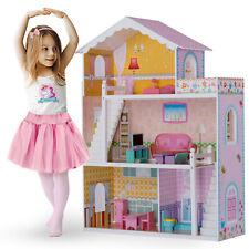 XXL Puppenhaus 3 Etagen Puppenstube Puppenvilla Puppen Ricokids
