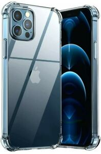 Crystal Clear Case for iPhone 12 11 Pro Max XR X XS 8 7 6s Protector Soft Cover
