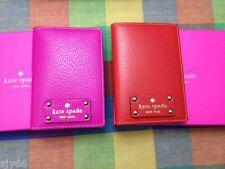 KATE SPADE Wellesley Passport Holder Wallet NWT Empire RED wlru1236 + GIFT BOX