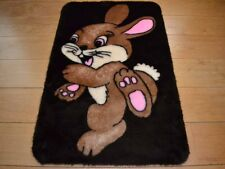 Funny Cute Bunny Rabbit Warm Rug Fluffy Furry Baby Bedroom Floor Mat Cheap