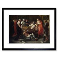 Eugene Delacroix Last Words Of Emperor Marcus Aurelius Framed Wall Art Print
