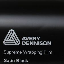 (24,34€/m²) Avery Supreme Wrapping Film Satin Black Auto Folie 152cm Car Wrap