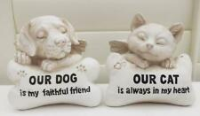 MEMORIAL HEADSTONE STATUE PLAQUE for DOG or CAT NEW POLY- RESIN STONE EFFECT