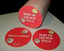 """NEW 125 Stella Artois """"Share with LOVE"""" Beer Coasters Bar Glass Mat Coaster"""