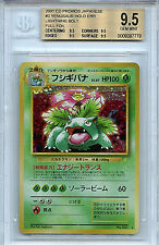 Pokemon Venusaur Japanese Lighting Bolt BGS 9.5 Gem Mint #3 Full Holo Card Error
