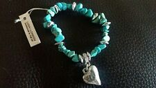 Luna London Turquoise Stonechip Heart Bracelet BNWT FREE POSTAGE