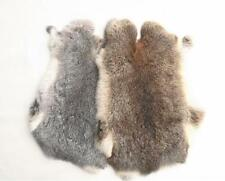Genuine Naturally Rabbit fur skin tanned Leather Hides craft Gray Pelts
