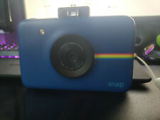 Blue Polaroid Snap Instant Digital Camera with ZINK Zero Ink Technology