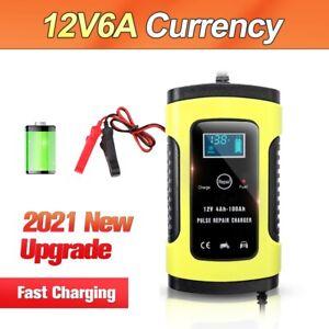 Cargador de batería para coche URAQT, 6A / 12V totalmente automático inteligente