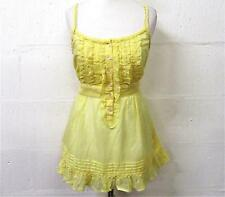 NEW SUMMER NEW LOOK LEMON YELLOW CAMISOLE TOP SIZE 14 # 849