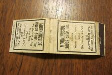 a205 Vintage matchbook cover Morningside Liquor Shop Amsterdam Ave Ny New York