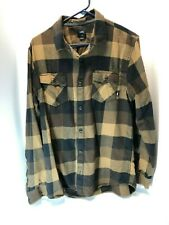Vans Youth long sleeve Flannel Shirt Size Large
