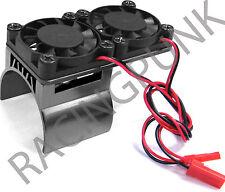 RC EP Eléctrico 1/10 coche 540 Motor Disipador térmico de aleación de actualización Doble Disipador térmico del ventilador GM