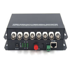 Premium 8CH Video Ethernet over Fiber optic media converters FC 20Km for Cameras