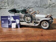 Franklin Mint 1907 Rolls Royce Silver Ghost Connoiseur 1:12 Scale Diecast Car