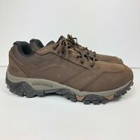 Merrell Moab Adventure Lace Mens Size 8.5 Wide Brown Hiking Shoes J91827W Vibram