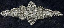 Diamante Applique Motif Crystal Patch Sew on Bridal Dress Belt, Hair Band D1