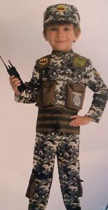 Toddler Boys Special Forces Halloween Costume Hat Kid Army Navy Marine 3T 4T NEW